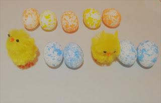 """Wielkanocna zabawa matematyczna dla """"Żabek"""""""